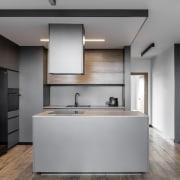 Architect: MetaformaPhotography by Krzysztof Strażyński cabinetry, countertop, floor, home appliance, interior design, kitchen, product design, gray