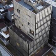The 925 Building architecture, building, city, condominium, residential area, roof, urban area, black, gray
