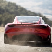 Tesla's new Roadster automotive design, automotive exterior, car, concept car, luxury vehicle, performance car, personal luxury car, race car, sports car, supercar, vehicle, gray