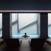 Mayfair Residential Tower – Zaha Hadid Architects architecture, daylighting, furniture, glass, interior design, product design, structure, table, black, gray