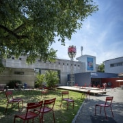 The new permanent exhibition at the Museum of architecture, leisure, real estate, roof, sky, tree