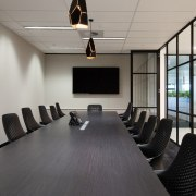 Austbrokers Countrywide – New office designed by A1 conference hall, flooring, interior design, office, table, gray, black
