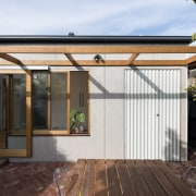 Architect: Drawing Room ArchitecturePhotography by Dan Fuge facade, house, outdoor structure, property, real estate, roof, shed, white, black