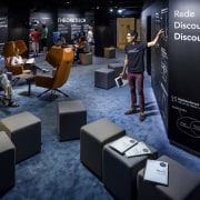The new permanent exhibition at the Museum of technology, black