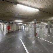 569 firestation metropolitan area, parking, parking lot, subway, gray, black