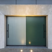 Arrowtown-based Bennie Builders was the only Southern Lakes architecture, door, facade, house, gray, black
