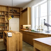 Wooden textures are in this year. cabinetry, countertop, cuisine classique, interior design, kitchen, wood, brown, white