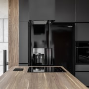 Architect: MetaformaPhotography by Krzysztof Strażyński cabinetry, countertop, floor, flooring, home appliance, interior design, kitchen, product design, black