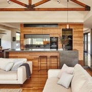 The joinery is on display in this living ceiling, floor, flooring, hardwood, home, interior design, living room, real estate, wall, wood flooring, white