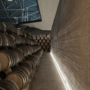 New brandy warehouse by TOTEMENT/PAPER winery, black, brown