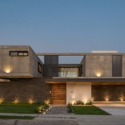 Colima home/Di Frenna Arquitectos architecture, building, elevation, estate, facade, home, house, property, real estate, residential area, teal, brown