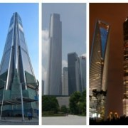 The five tallest buildings in China architecture, building, corporate headquarters, metropolis, metropolitan area, mixed use, skyscraper, tower, tower block