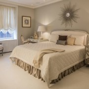 In the bedroom, the old meets the new bed frame, bedroom, ceiling, estate, floor, home, interior design, room, suite, wall, window, brown, gray