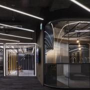 H Academy – Shi-Chieh Lu/CJ Studio architecture, glass, interior design, public transport, structure, black
