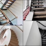 Ready to get inspired? architecture, furniture, handrail, interior design, product design, stairs, table, wood, gray