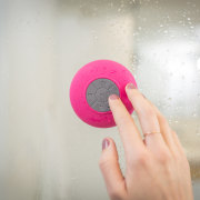 Want to create a bathroom that's a bit finger, hand, pink, gray, white