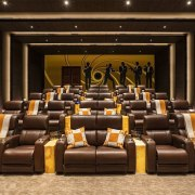 924 Bel Air Rd auditorium, conference hall, function hall, furniture, interior design, theatre, brown
