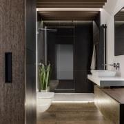Architect: MetaformaPhotography by Krzysztof Strażyński countertop, floor, flooring, interior design, sink, black, gray