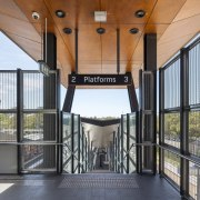 Cheltenham Station – Cox Architecture architecture, balcony, handrail, house, property, real estate, gray