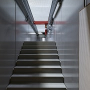 569 firestation architecture, daylighting, light, line, stairs, structure, gray, black