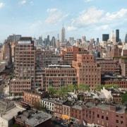 Jon Bon Jovi's new apartment in NYC – aerial photography, bird's eye view, building, city, cityscape, daytime, downtown, metropolis, metropolitan area, neighbourhood, residential area, sky, skyline, skyscraper, suburb, tower block, urban area, white, gray