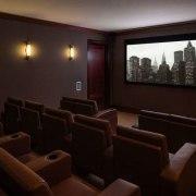 Jon Bon Jovi's new apartment in NYC – auditorium, conference hall, interior design, room, theatre, black