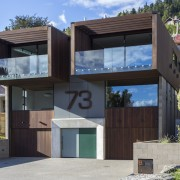 Arrowtown-based Bennie Builders was the only Southern Lakes architecture, building, elevation, facade, home, house, property, real estate, residential area, gray, black