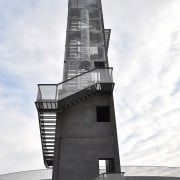 569 firestation architecture, building, sky, tower, white