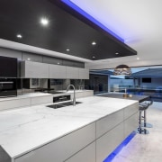 A focus on lighting – Kitchen by designer ceiling, countertop, daylighting, interior design, kitchen, property, real estate, gray, white