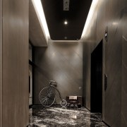 Hotel Ease architecture, ceiling, daylighting, floor, flooring, interior design, light, lighting, lobby, wall, black