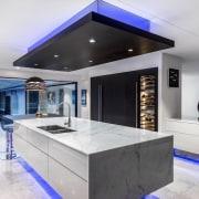 A focus on lighting – Kitchen by designer ceiling, countertop, estate, interior design, kitchen, property, real estate, gray, white