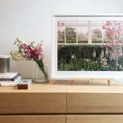 Some of the appointments in the home furniture, home, interior design, table, window, gray, white