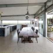 The kitchen is certainly an entertainer's dream floor, flooring, interior design, real estate, gray