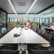 The new M Moser workspace provides a variety office, gray, black