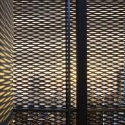 The 925 Building architecture, design, line, mesh, metal, pattern, texture, wood, black