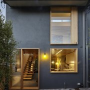 Careful attention to fenestration creates an interesting facade architecture, building, facade, home, house, real estate, residential area, siding, window, black