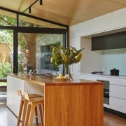 The island is simple and elegant architecture, countertop, furniture, hardwood, house, interior design, kitchen, table, wood, brown