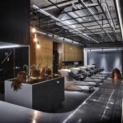 H Academy – Shi-Chieh Lu/CJ Studio ceiling, interior design, lobby, black, gray