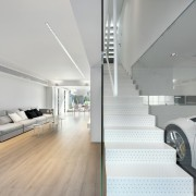 Glass means you can see the Lamborghini from architecture, automotive design, automotive exterior, car, ceiling, executive car, floor, house, interior design, product design, vehicle door, gray
