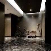 Hotel Ease architecture, ceiling, floor, flooring, interior design, lobby, black
