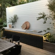 Introducing timber into your spaces is a great backyard, bench, deck, furniture, house, outdoor furniture, outdoor structure, patio, table, wood, yard, black