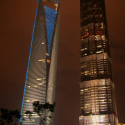 4. Shanghai World Financial Center – 492 m architecture, building, city, cityscape, condominium, daytime, downtown, landmark, lighting, metropolis, metropolitan area, night, reflection, sky, skyline, skyscraper, tower, tower block, urban area, brown