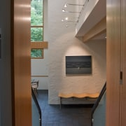 Photo by Jim Tetro architecture, ceiling, daylighting, floor, interior design, stairs, brown, gray