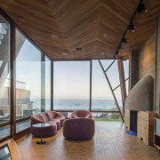 Edward Norton's new Malibu Colony home – Trulia architecture, ceiling, house, interior design, real estate, window, wood, brown, gray