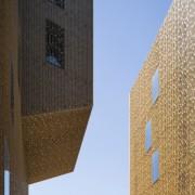 Palace of Justice building | Mecanoo + Ayesa architecture, building, daytime, facade, sky, skyscraper, tower, tower block, urban area, teal