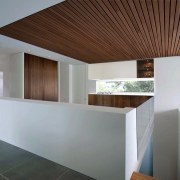 Wood runs along the ceiling architecture, ceiling, daylighting, estate, home, house, interior design, property, real estate, gray