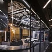H Academy – Shi-Chieh Lu/CJ Studio architecture, interior design, reflection, black