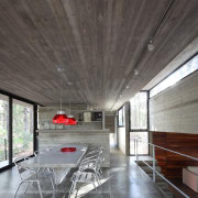 Concrete runs inside and out in this home, architecture, beam, ceiling, daylighting, floor, house, interior design, gray, black