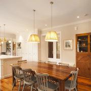 TIDA NZ 2017 – Designer kitchen entrant – cabinetry, ceiling, countertop, cuisine classique, dining room, floor, flooring, hardwood, interior design, kitchen, real estate, room, table, wood flooring, white, brown