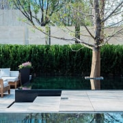 Vanke Park Mansion 'True Love' – FLOscape Landscape backyard, courtyard, garden, grass, landscaping, outdoor furniture, outdoor structure, patio, plant, property, shrub, tree, walkway, wall, yard, gray